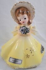 Vintage Josef Originals Figurine Birthday Girl August