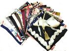 Big Square Ladies Womans Faux Silk Head Neck Thin Scarf Bag Charm - 70cm x 70cm