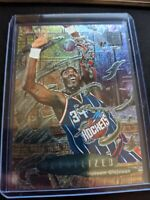 1996-97 FLEER METAL HAKEEM OLAJUWON METALIZED Foil #227, ROCKETS HOF