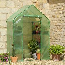 Marcher dans jardin serre avec étagères Polytunnel Steeple Grow House NEUF