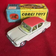 Vintage Corgi Toys No. 234 Ford Consul Classic Beige Body Pink Roof Boxed
