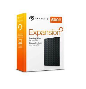 500GB Portable External Hard Drive - USB 3.0  WD.SEAGATE.TOSHIBA