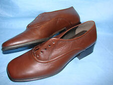 WOMEN'S SHOES 6 1/2 B/2A EASY SPIRIT BROWN OXFORD LOAFERS WITH HEEL