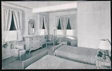 WASHINGTON DC New Colonial Hotel Guest Room Vintage B&W Postcard Old WASH