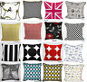 "100% Cotton Cushion Cover Decorative pillow case Size 18""x18""  Postage Free"