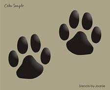 "Paw Print Stencil 5"" Dog Cat Pet Animal shape Vet Craft Scrapbook Primitive Sign"