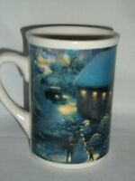 Thomas Kinkade Winter Evening Memories Covered Bridge Horse Sleigh Coffee Mug