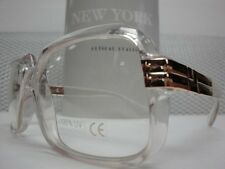 NEW VINTAGE CRYSTAL CLEAR SMART COOL CLUB EYE GLASSES CLEAR LENS FASHION FRAMES
