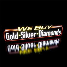 New Led We Buy Gold Silver Diamonds Pawn Shop Light Box Sign, Neon Alternative