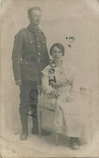 soldier Pte Edwin Krause unknown regiment with Fiancee ? Wife ? Nottingham