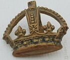 Officers rank crown Kings Crown Brass 22*20mm  voided