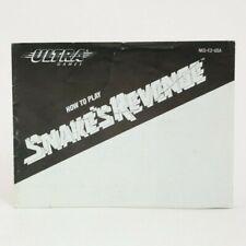 Snake's Revenge (NES) MANUAL ONLY NO GAME
