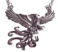 SILVER PHOENIX PENDANT NECKLACE Harry Potter fire bird fantasy mythical new F3