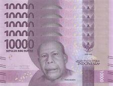 LOT, Indonesia 10000 Rupiah (2016) p157 x 5 PCS AU