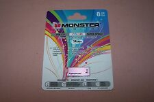 Monster USB 2.0 Flash Drive Pink Super Speed 8GB NEW in Pack For Windows & Mac