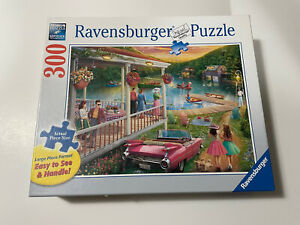 Ravensburger Puzzle - Summer At The Lake 300 Large Format Piece, premium puzzle