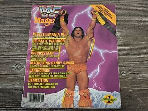 THE ULTIMATE WARRIOR WWF MAGAZINE Wrestling June 1990 Issue Wrestlemania VI RARE