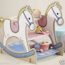 baby shower party Rock A Bye Baby rocking horse cake or sandwich stand