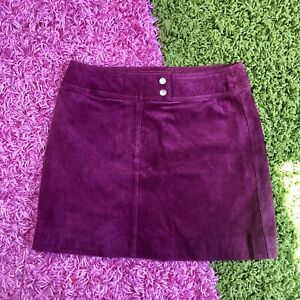 Vintage Suede Skirt  Paris Sport Club  Taupe Knee Length Suede Skirt  Vintage Suede Skirt  28 inch waist