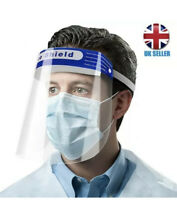 2 pcs Face Shield Visor Protection Mask Sheild Safety Clear PPE  UK SHIPPING
