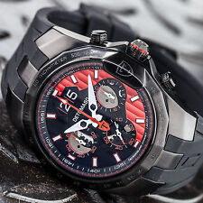 DETOMASO ADRENALINE JUNKIE DT-YG103-A Mens Chronograpf Date Silicone strap New