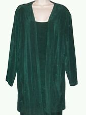 ONYX Emerald Green Sleeveless Dress Long Sleeve Duster Plus Size