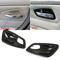 For BMW E92 E93 M3 Coupe Dipping Print Door Handle Bowl Cover Carbon Fiber Style