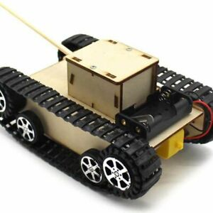 1Pc tank model science  education manual assembly remote control toy car kit UK