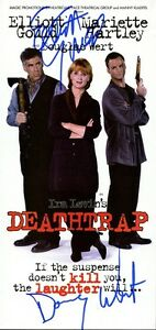 DEATHTRAP Show Flyer Signed In-person By Two Stars
