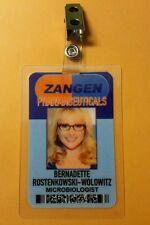 The Big Bang Theory ID Badge- Zangen Bernadette Microbiologist costume cosplay