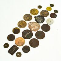 Good Luck Token Lot Mix Whiskey Expo Jewish Chauffeur NYC President Boy Scouts