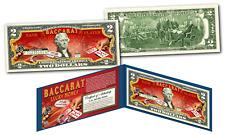 "BACCARAT Casino Game Asian *Lucky Money""  Legal Tender U.S. $2 Bill w/ Display"