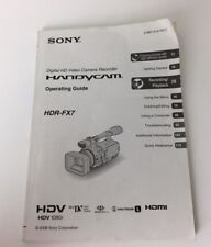 HDR-FX7 FX7 Owners Manual Genuine Sony