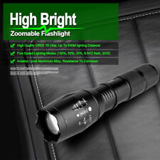 5000LM Zoomable CREE XML T6 LED 18650 Flashlight Focus Torch Zoom Lamp Light NEW