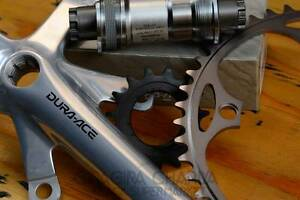 Dura Ace 7710 NJS Track Bicycle Drivetrain package -BB, Crankset, Chainring, Cog