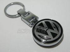 Nero Chrome Key Chain Portachiavi VW Golf Polo Jetta Passat Lupo Fox Sharan AUTO