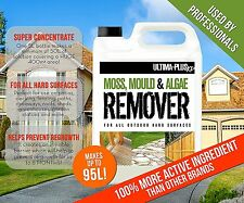 MOSS KILLER PATIO MAGIC DRIVE ALGAE REMOVER FENCING CLEANER DECKING MOULD 4 X 5L