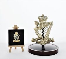 Royal Irish Rangers: Large Solid Brass Badge Gift Set (14.5cm x 10cm)