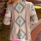 Women Long Sleeve Waterfall Cardigan Knitwear Casual Boho Poncho Jacket Coat Top