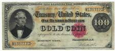 SERIES OF 1882 GOLD NOTE $100 ONE HUNDRED DOLLAR BILL US CERTIFICATE GOLD COIN