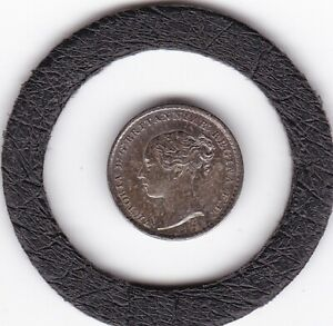 1868   Queen  Victoria   Maundy    Penny   (m1d)  Coin  (92.5% Silver)