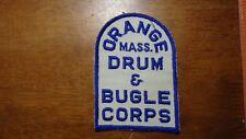 ORANGE MASSACHUSETTS DRUM AND BUGLE CORPS MILITARY BAND VFW 1940'S BX13 #20