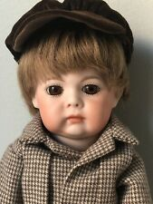 "Reproduction Antique K&R Simon &Halbig 12"" Character Pouty Boy Doll Opal Butler"