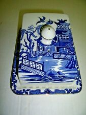 Burleigh Ware Blue Willow Cheese Dish
