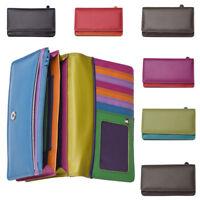 Ladies Leather Golunski Purse RFID Blocking Multi Colour Envelope Style Wallet