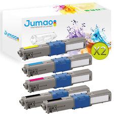 10 Toners cartouches type Jumao compatibles pour OKI MC562dn MC562dnw MC562w