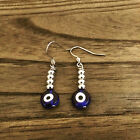 Stainless Steel Handmade Earrings Choose Cross, Evil eye, Ball & Evil Eye Dangle