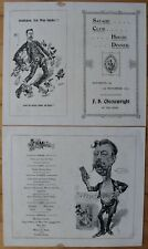 More details for two x 1897 original savage club menu's, london, f h cheesewright in the chair