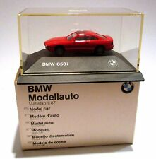 Herpa BMW 850i Red 1:87 PC Vitrine OVP Dealer
