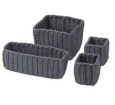 Ikea Nordrana Storage Baskets 4 Set Grey New